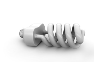 energy saving light bulbs isolated on white background