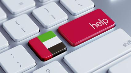 United Arab Emirates. Help Concept