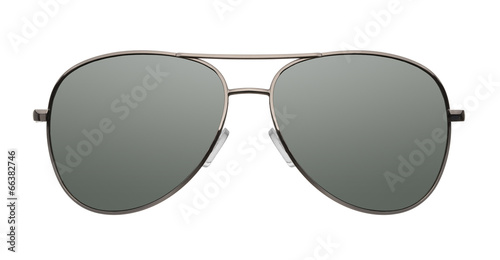 canvas print picture Aviator sunglasses isolated on white background