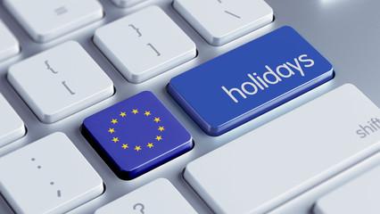 European Union Holidays Concept