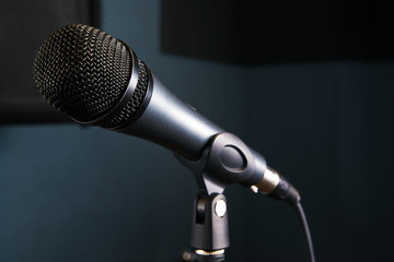 Microphone on studio