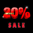 20 percent off, 20 sale discount, 20% sale text- vector EPS10