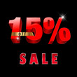 15 percent off, 15 sale discount, 15% sale text- vector EPS10