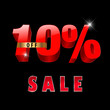 10 percent off, 10 sale discount, 10% sale text- vector EPS10