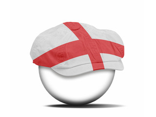 fashion hat on white with the flag of England