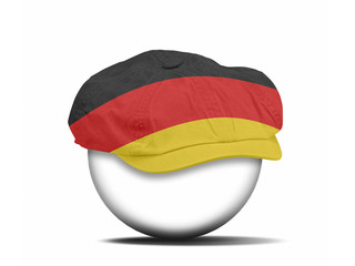 fashion hat on white with the flag of Germany