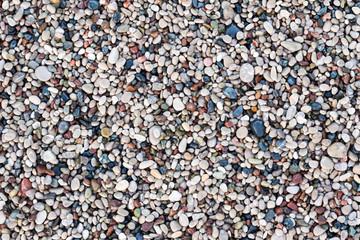 Sea pebbles on a beach