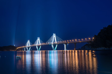 Geoje toll bridge from shore