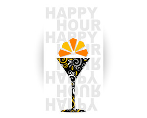 Happy Hour Cocktail logo