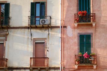 Nice mediterranean house facades