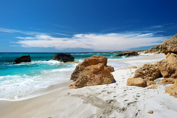 Beautiful landscape of the coast of Sardinia