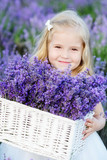 girl with lavender