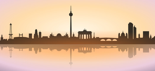 Skyline Berlin Sunrise