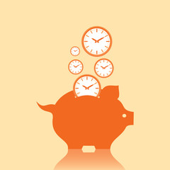 Save money concept with piggy bank stock vector