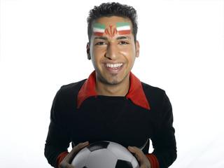 Männlicher Fußball-Fan aus dem Iran