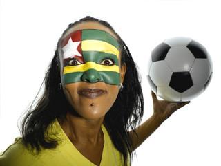 Weiblicher Fußball-Fan aus Togo, Portrait