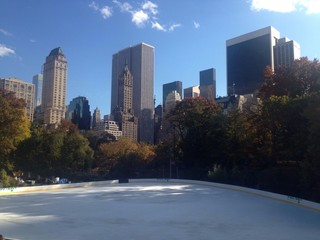 Skating rink in Central Park, NYC, USA
