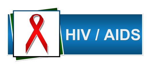 Hiv AIDS Red Blue Green