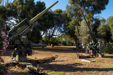 antiaircraft guns