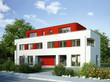 Doppelhaus weiss rot 2