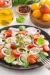 Greek salad with feta cheese, vertical
