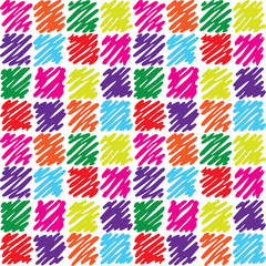 seamless pattern with dashed squares