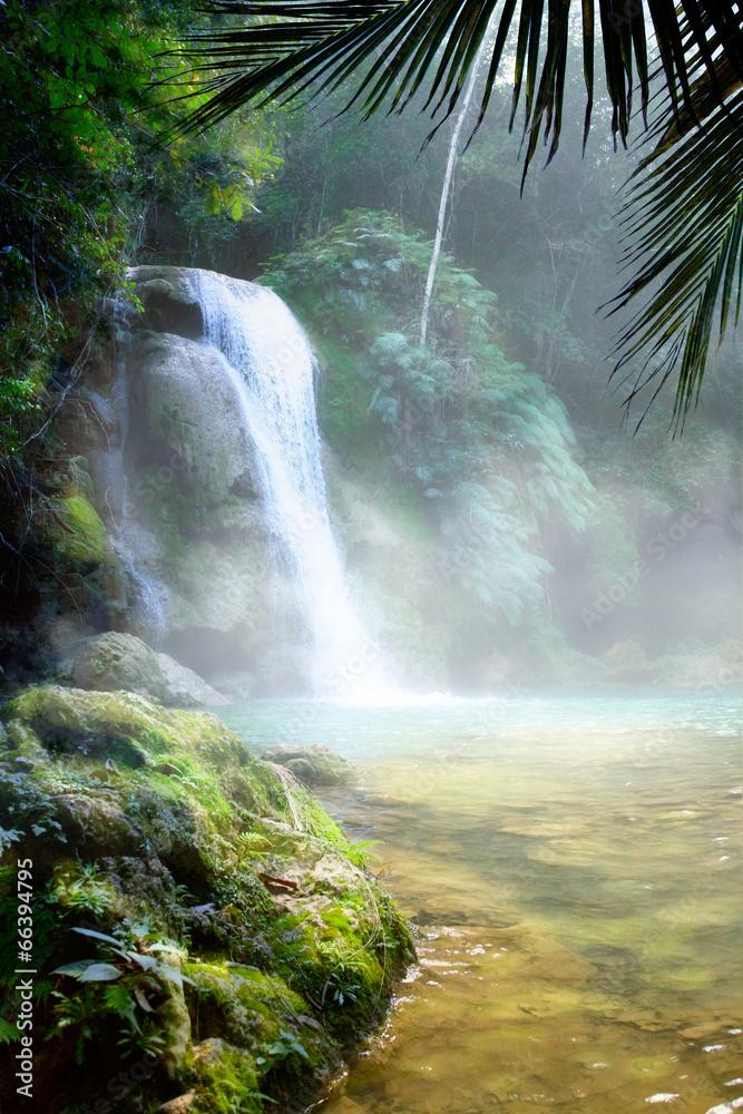 rzeki las wodospad - powiększenie