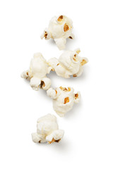 Popcorn on white background -Clipping Path