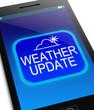 Leinwanddruck Bild - Weather update concept.