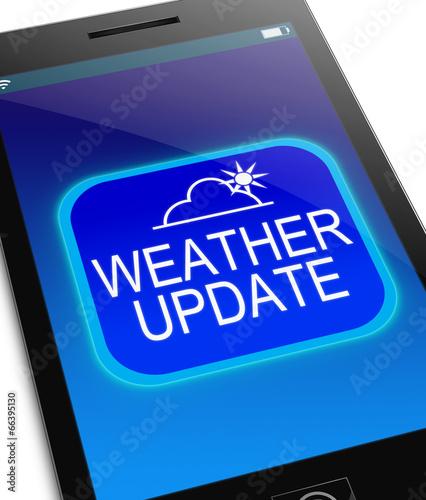Leinwanddruck Bild Weather update concept.