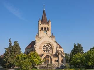 Basel, Altstadt, Pauluskirche, Park, Hochzeit, Schweiz