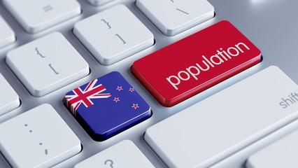 New Zealand Population Concept.