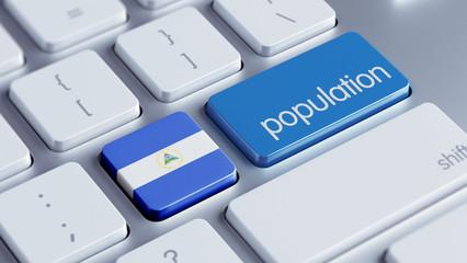 Nicaragua Population Concept.