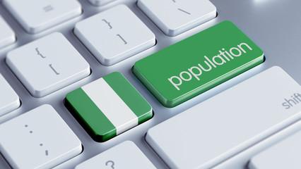 Nigeria Population Concept.