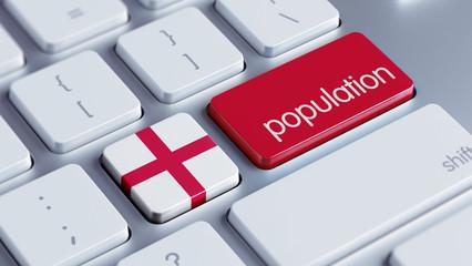 England Population Concept.