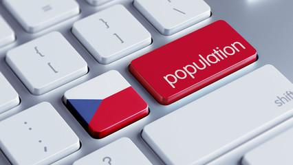 Czech Republic Population Concept.