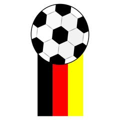 Fussball mit Flagge, Deutschland