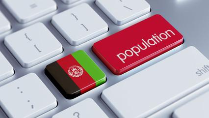 Afghanistan. Population Concept.
