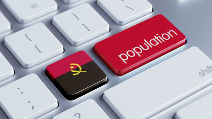 Angola Population Concept.