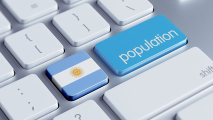 Argentina Population Concept.