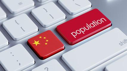 China Population Concept.