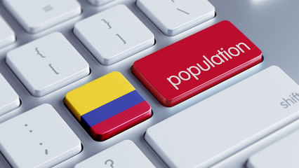 Colombia Population Concept.
