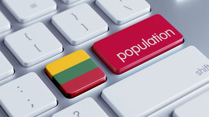 Lithuania Population Concept.
