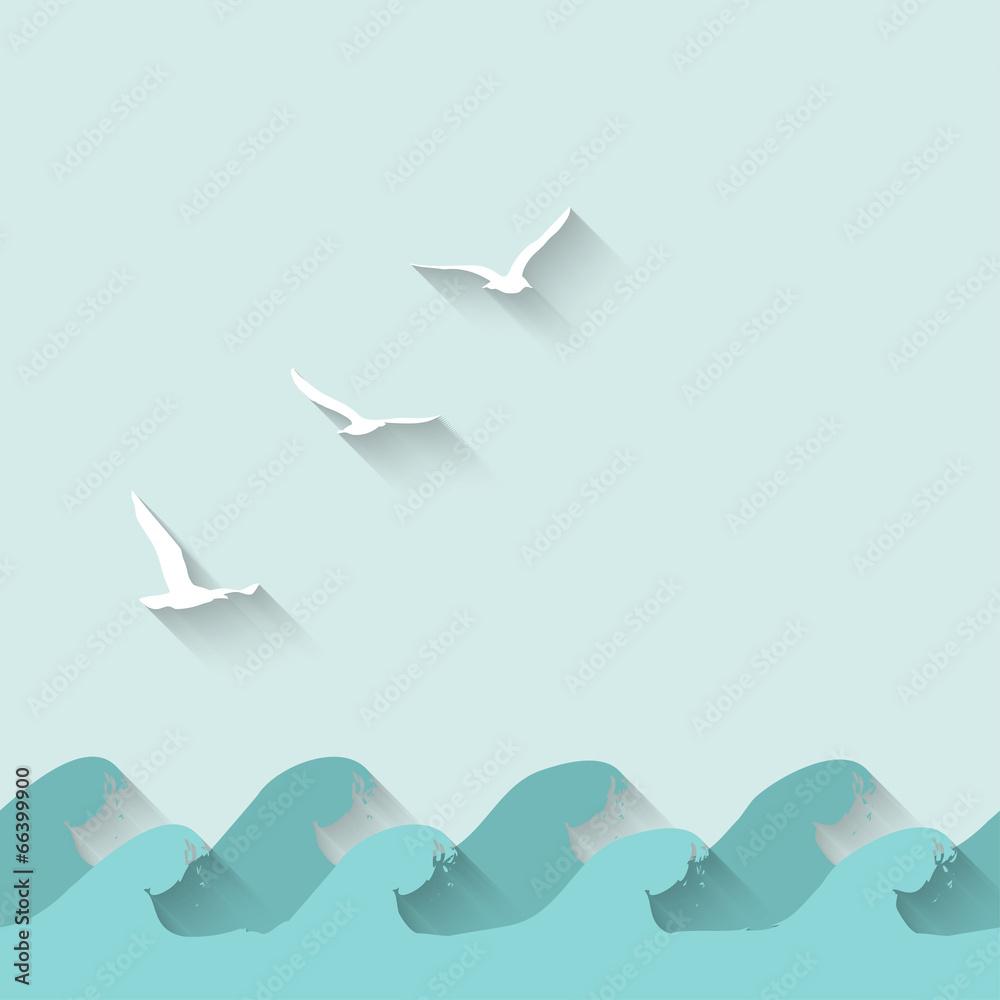 morze morskie niebieski - powiększenie