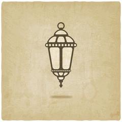 Ramadan lantern old background