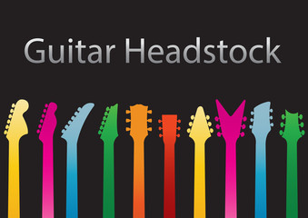 Guitar headstocks colour