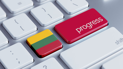 Lithuania Progress Concept