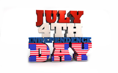 July 4th Independence Day Stock Photo