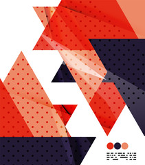 Modern geometrical abstract template on white