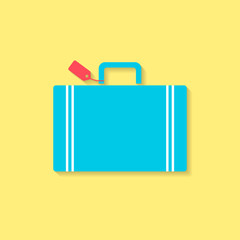 luggage flat icon, travel conception